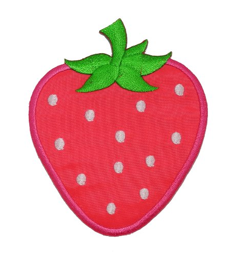 Cute Pink Strawberry DIY Applique Embroidered Sew Iron on Patch STB-001