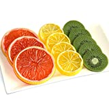 DLUcraft Highly Simulation Fake Slice Artificial Fruit Model Home Party Decoration(Kiwifruit+Lemon+Orange-12 PCS