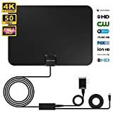 Indoor TV Antenna Zoetouch Digital Antenna for HDTV with Amplifier,50 Miles Range VHF UHF Freeview for Life Local Channels Broadcast