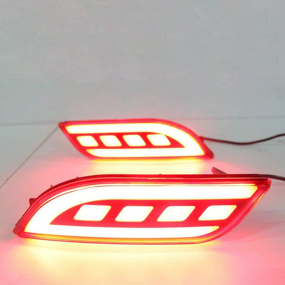 LED Rear Bumper Reflector Fog Light Brake Turn Indicator Lights For Compass 2017 2018