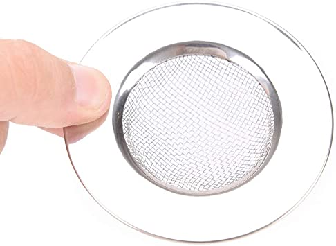 BathtubHair Catcher Stopper Shower Drain Hole Filter Trap Metal Sink Strainer LE
