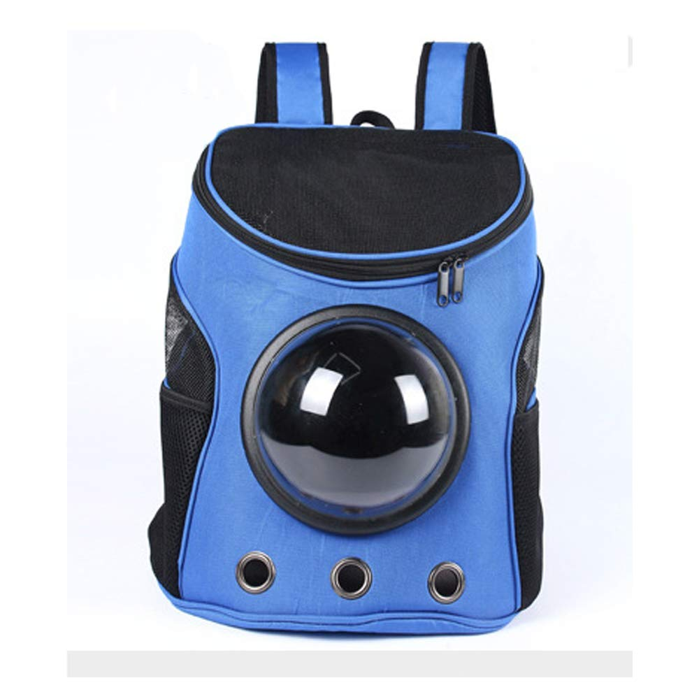 bluee ACLBB Pet space capsule backpack, travel breathable backpack, portable capsule design, cat and puppy,bluee
