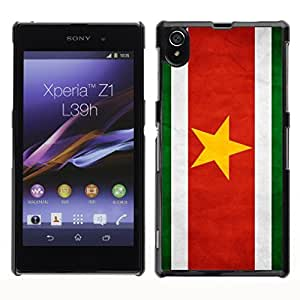 Shell-Star ( National Flag Series-Suriname ) Snap On Hard Protective Case For SONY Xperia Z1 / L39H / C6902 / C6903 / C6906