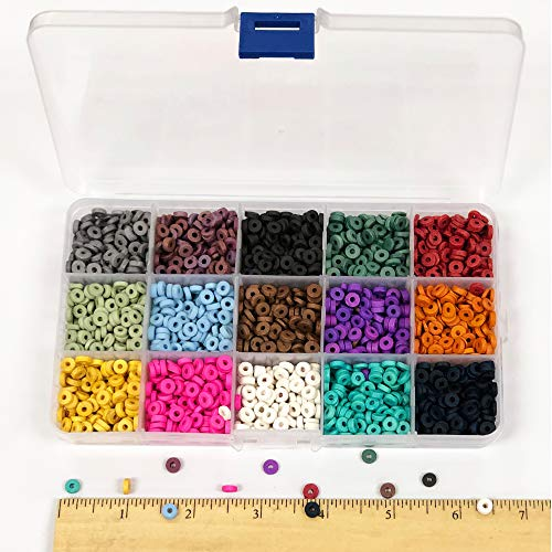 - Over 4,000 Ceramic Terra Cotta Spacer Beads for Jewelry Making with Free 3 Free Stretch Bracelets for Inspiration - Handmade Colorful Premium Quality Craft Bead Kit - Unique Craft Supplies