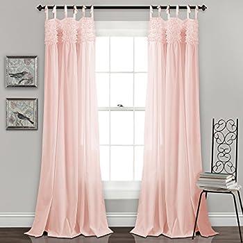 Amazon Com Lush Decor Belle Window Curtain Panel 84 X 54