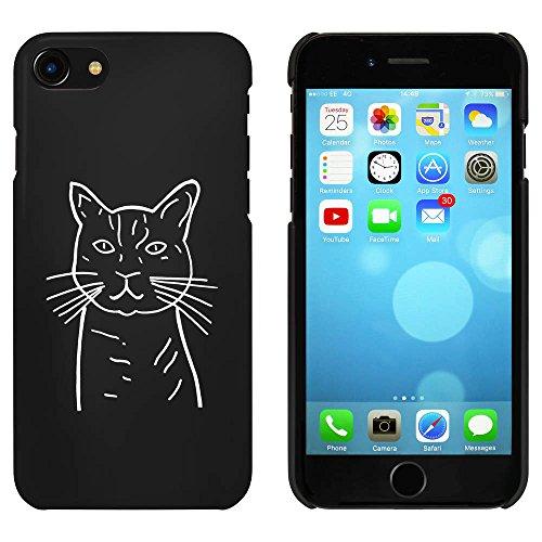 Noir 'Chat' étui / housse pour iPhone 7 (MC00063527)