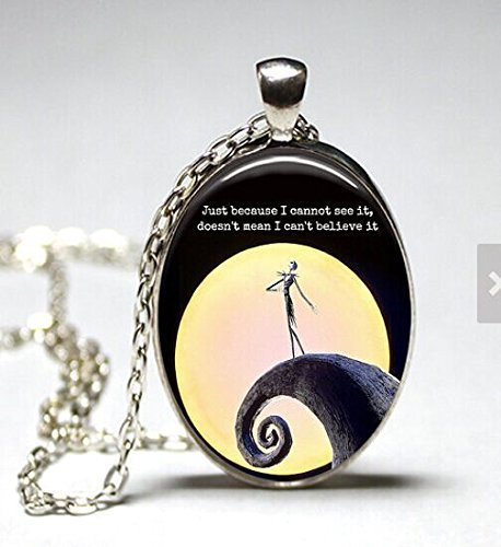 Oval The Nightmare Before Christmas glass dome pendan