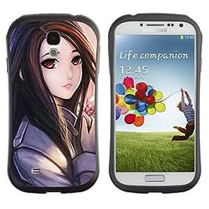 Suave TPU GEL Carcasa Funda Silicona Blando Estuche Caso de protección (para) Samsung Galaxy S4 I9500 / CECELL Phone case / / Anime Japanese Girl Drawing Hair /