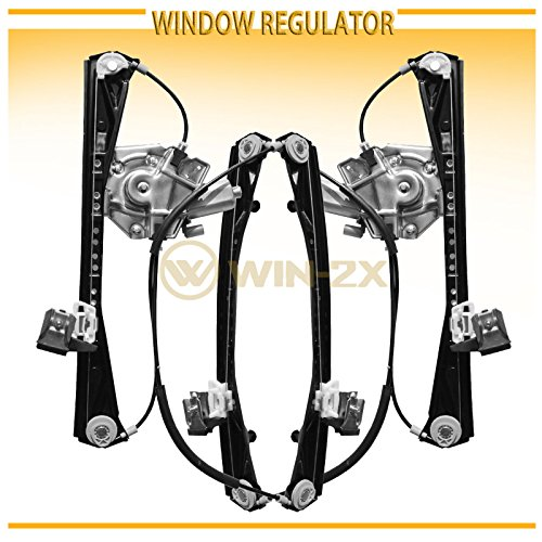 WIN-2X New 2pcs Front Driver & Passenger Side Power Window Regulators & Motors Assemblies Fit 00-02 Lincoln LS 00-01 Jaguar S-Type 02 VIN Up To M45254 by WIN-2X