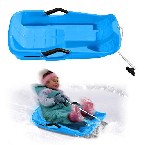 BenefitUSA Snow Kids Winter Toboggan Sled Downhill Sprinter Sledding Board Seat (Blue) by BenefitUSA