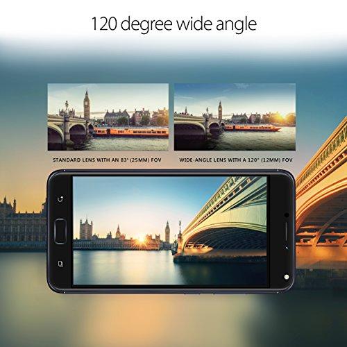 ASUS ZenFone 4 5.5-inch FHD IPS 4GB RAM, 64GB storage LTE Unlocked Dual SIM Cell Phone, US Warranty, Midnight Black