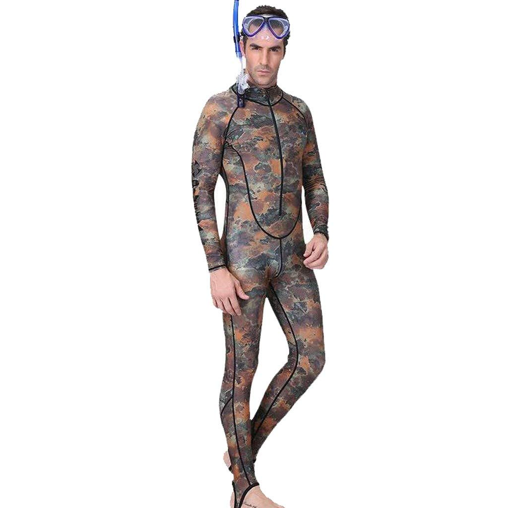 MILIMIEYIK Mens 3mm Wetsuits Camo Neoprene Full Body Diving Suits One Piece Spearfishing Suit