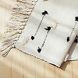 Seavish Tufted Cotton Area Rug,2X 4.4 Black Dots