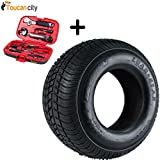 Martin Wheel 215/60-8 18x850-8 Load Range C Trailer Tire 2568C-I and Toucan City Tool Kit (9 Piece)