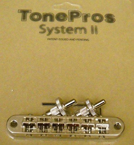Tonepros® System II Nashville Style Notched Bridge - Nickel Finish