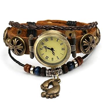 Vintage Relojes De Pulsera Brazalete, Señoras Relojes, Relojes De Cuero, Vintage Pie Pulseras, Relojes Antiguos: Amazon.es: Deportes y aire libre