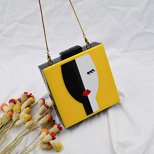And Style Yellow European Elegant WenL Package Banquet American Evening HqvTxzwx5
