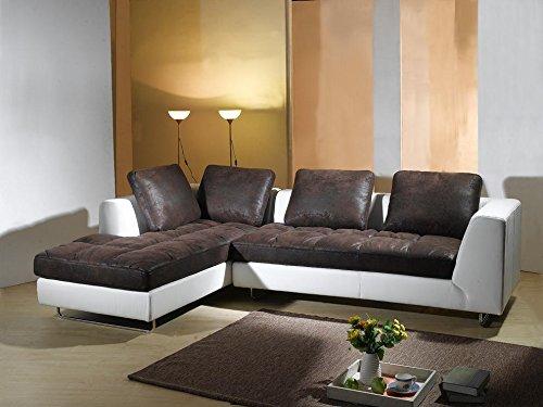 microfaser kunst leder ecksofa sofa garnitur 5059 l g nstig bestellen. Black Bedroom Furniture Sets. Home Design Ideas