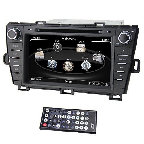 Zestech 7 inch for Toyota Prius 2009-2013 In Dash HD Touch Screen Car DVD Player GPS Navigation Stereo Support Bluetooth/SD/USB/Ipod/FM/AM Radio/DVR/3G/AV-IN/1080P with North and South America Map and free Reverse Backup Rear View Camera as Gift Mp3 Wma Fm Dvr