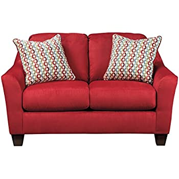 Amazon Com Ashley Furniture Signature Design Hannin Loveseat With 2 Accent Pillows