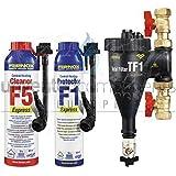 Fernox Total Tf1 Filtre magnétique installateur Lot de produits chimiques F5 F1 Express 22 mm