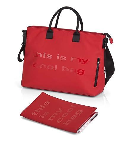BE COOL Mamma Bag - Bolso cambiador con anclaje universal, Color Red