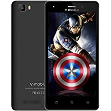 Unlocked Cell Phones, V Mobile A10-N 5.0 Inch 8GB ROM Android 7.0 Dual Sim 5MP Camera Smartphone Cheap and Easy to Use Quad-core for at&T T-Mobile(Black)