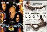 The Fifth Element & Looper DVD Bruce Willis Sci-Fi Movie Set
