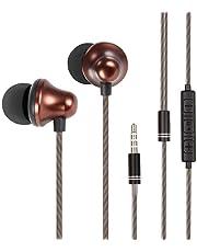 Auriculares,OuTera Auriculares con micrófono, Sistema de Cancelación de Ruido y Sonido Envolvente,Auriculares In-Ear.Compatibles con Huawei,MP3,iOS,Android,PC y más-Café