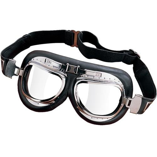 Emgo Roadhawk Vinyl Classic Split Lens Goggles (Chrome Finish) Emgo Goggles