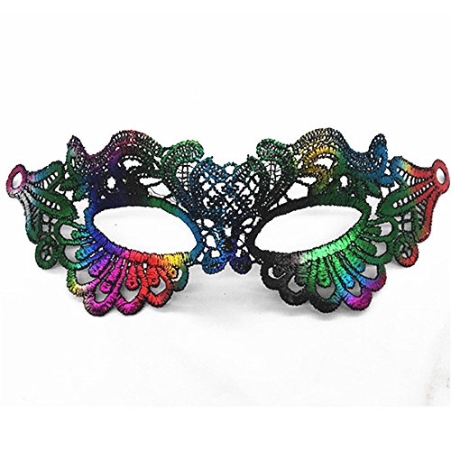Mardi Gras Party Masquerade Mask,Bronzing lace mask Lady Makeup Dance Eye Patch Halloween Party mask UL8 Prom Masks -