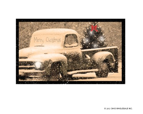 Ohio Wholesale Radiance Lighted Merry Christmas Pick up Truck Canvas Wall Art, from our Christmas Collection Christmas Tree Ohio