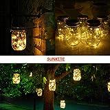 SunKite Solar Mason Jar Lights, 4 Pack 20 LED