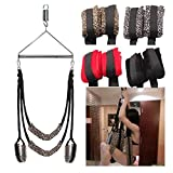 rackerose Adult Game Sex Swing Chairs Furniture Love Door Swing Sex Toys for Couples Restraint Fetish Bondage Sex Products(Black,Love Swing)