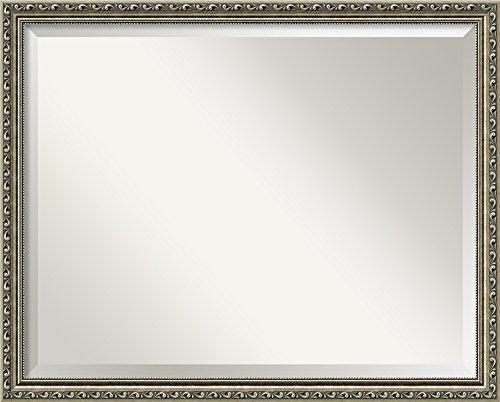 Framed Beaded Cabinet Mirror - Amanti Art Bathroom Mirror Large, Fits Standard 30