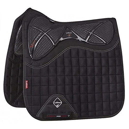 Le Mieux X Grip Twin Sided Dressage Square Saddle Pad (Black) Black Dressage Saddle Pads