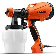 Paint Sprayer, HVLP Spray Gun Power Painter By REXBETI, Home Paint Sprayer Tool, 3 Spray Patterns Flow Control, 750ml/min