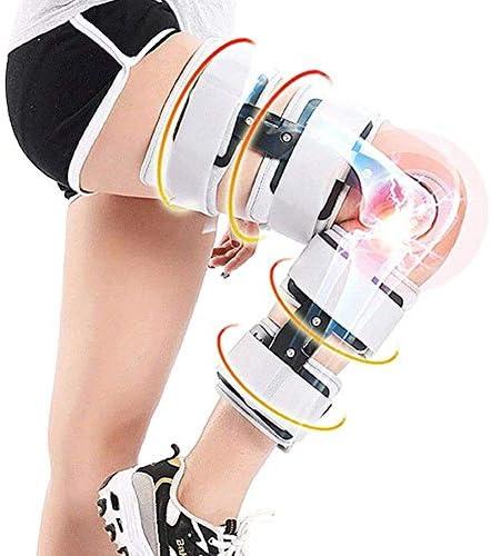 COOYT Kniebandage, ROM Brace Kniebandage mit Scharnier, verstellbare Gurte for arthritische/ACL/Meniskusrisse/Sportverletzungen/Laufen Laufen
