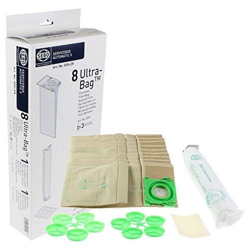 Genuine Sebo Canister Vacuum Cleaner Service Box Ultra Filter Bags 8PK (Sebo Pack)