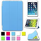 Besdata® Funda Carcasas diseñado poliuretano para Apple iPad mini Apple iPad Smart Cover (IPad mini Azul) - PT2502