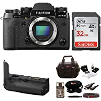 Fujifilm X-T2 Mirrorless Digital Camera Body w/Battery Grip Kit (Black)