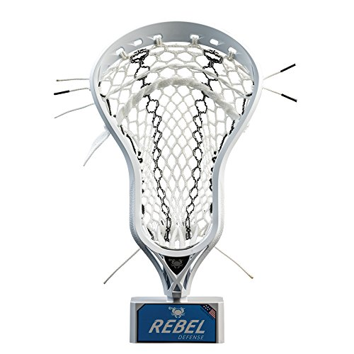 East Coast Dyes - Rebel Defense Strung Lacrosse Head - White - Elite Pocket - Hero 2.0 - Black Striker (Best Strung Lacrosse Heads)