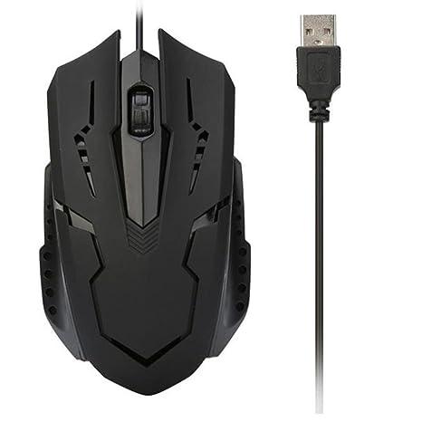 Bescita_UK Ratón para Videojuegos con Cable ergonómico para Juegos con USB, Ratón, RGB,