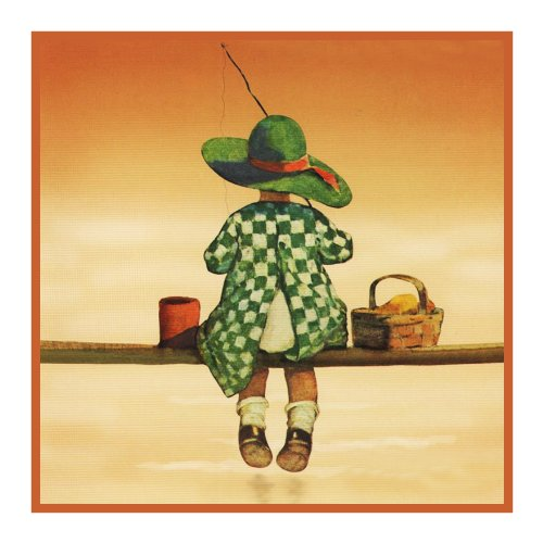 (Orenco Originals Young Girl Fishing by Jessie Willcox Smith Counted Cross Stitch Pattern)
