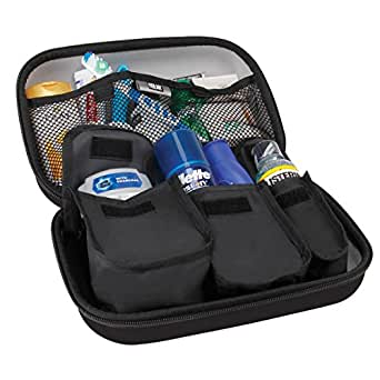 Toiletry Travel Bag Organizer Kit with Customizable Storage Pockets & Protective Hard Shell by USA GEAR - Perfect for Carrying Shampoo , Conditioner , Body Wash , Shaving Supplies & More Toiletries!