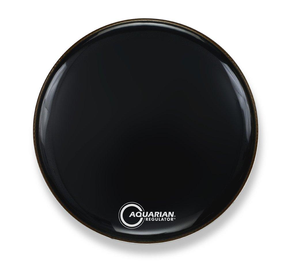 Aquarian Drumheads RF18BK Regulator Black 18-inch Bass Drum Head, gloss black