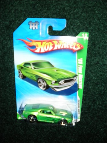 2010 Hot Wheels Treasure - HOT WHEELS 2010 TREASURE HUNT 12/12 GREEN '69 FORD MUSTANG