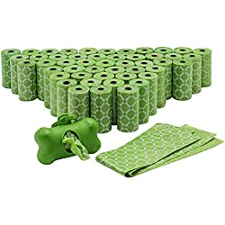 Durable Poop Bags with Dispenser for Leash, Lavender-scented, Best Pets Dog Waste Bag Holder Refill for Doggie Waist/Poo/Boo, Green, Not Biodegradable (960-Count)