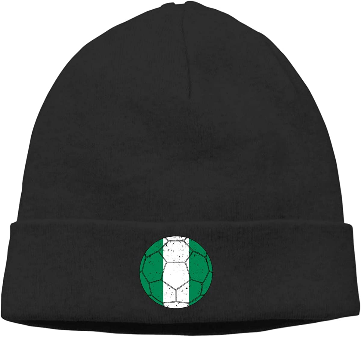 E6EP9E Nigerian Flag Soccer Football11 Warm Skiing Skull Cap Men Women Camping Thin Beanie