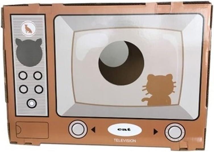 DJVD TV Papel Corrugado Cat Litter Pet Sofa House Juguetes ...